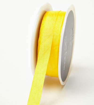"1/2"" Yellow Wrinkled Ribbon"